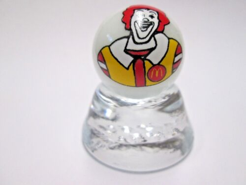 "RONALD McDONALD FROM /""McDONALDS/"" ON WHITE PEARL MARBLE"