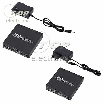 SCART+HDMI To HDMI HD Video Converter Box 720P 1080P 3.5mm Audio Out B2SA