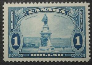 Canada #227, VF, MNH OG, Champlain Statue, 1935 Pictorial Series