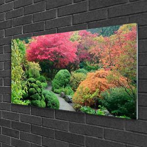 Image sur verre acrylique Tableau Impression 100x50 Nature Jardin ...
