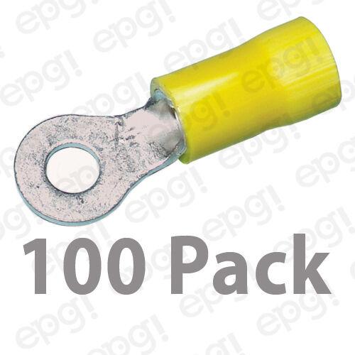 RING TERMINAL VINYL #8 YELLOW 10-12 GAUGE #108A-100PK