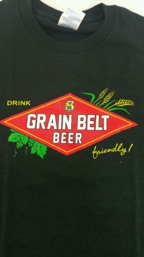 Brand New Black Grainbelt Premium Beer Shirt Size Small S Fast Shipping