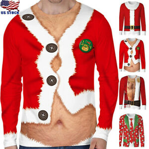 Men Women 3D All Over Printed Hairy Chest Tattoos Ugly Christmas Shirts Sweater