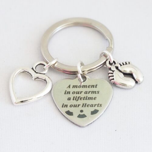 """/""""A moment in our arms a lifetime in our Hearts/"""" Baby child infant memorial alloy"""