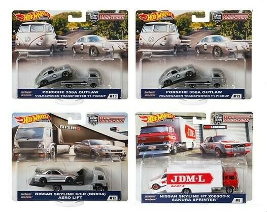 HOT WHEELS CAR CULTURE TEAM TRANSPORT FACTORY CASE E - FLF56-956E - 4 PC CASE