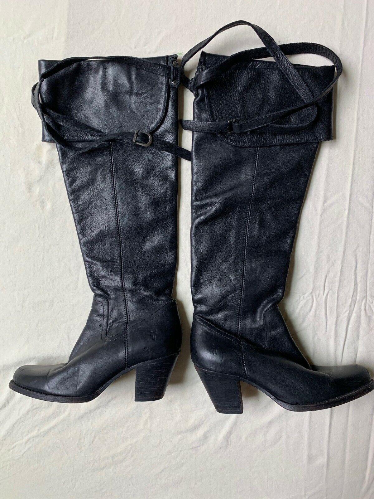 confortevole FRYE Donna  Knee High avvio nero nero nero Leather Dimensione 7.5 B  economico e di alta qualità