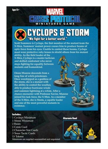 CYCLOPS and STORM Character Pack Marvel Crisis Protocol CP41 Brand NEW