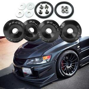 pc jdm black car bumpers trunk fender hatch lids quick release fasteners ebay