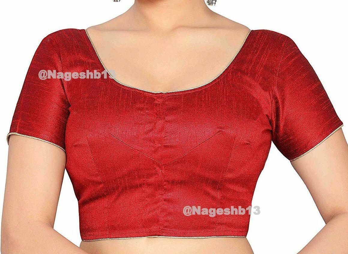 Readymade Saree Blouse,Designer Sari Blouse, Maroon Blouse, Indian Blouse