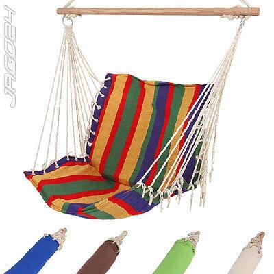 Chaise hamac de jardin fauteuil suspendu balancelle transat 5 couleurs au CHOIX