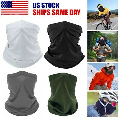 UV Protection Neck Gaiter Cover Scarf Bandanas Quick-dry Mesh Cycling Hiking
