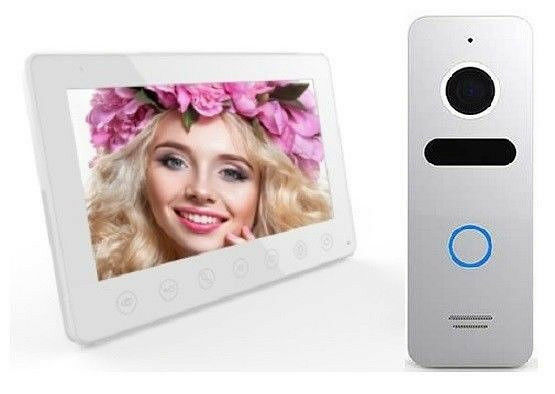 Video Türsprechanlage,Kamera 110°  800TVL, IR-LED´s,7 -Touch-Monitor Slim-15mm