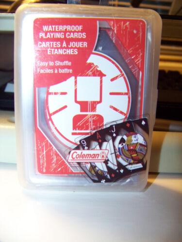 COLEMAN LANTERN WATERPROOF PLAYING CARDS SEALED W//PLASTIC CASE
