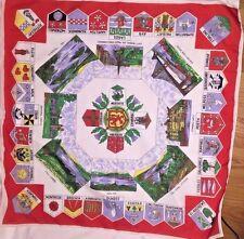 """Scotland Scottish Crests Landmarks Square Ladies Scarf 26"""" x 26"""" - Unique!"""