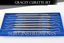 8 Piece Gracey Curette Set Medical Dental Surgical Instrument