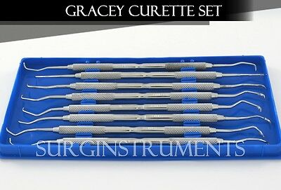 Set of 8 Pcs Gracey Curettes Kit Dental Surgical Instruments