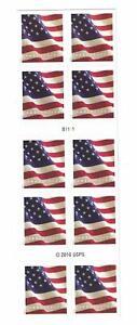 10-USPS-Forever-Stamps-US-Star-Spangled-Banner-Flag-Heart-Postage-Coil-Sheet-USA