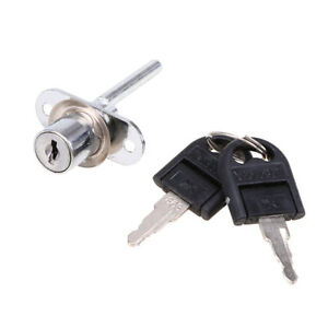 Us Silver Zinc Alloy Lock For Door Cabinet Cupboard Drawer Desk