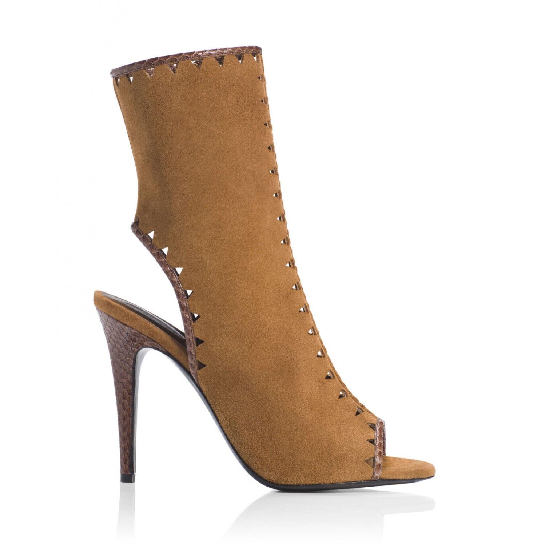 Tamara Mellon Tan Suede Sunkiss Boots 105MM Heels NEW