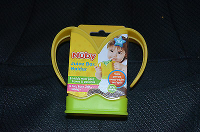 1 NEW Nuby Juice Box Pouch Holder Handles