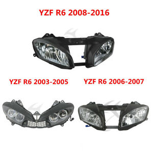 Front-Headlight-Headlamp-Assembly-For-Yamaha-YZF-R6-YZFR6-03-05-06-07-08-16-New