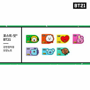 BTS-BT21-Official-Authentic-Goods-Post-it-Shape-Note-7SET-Tracking-Number
