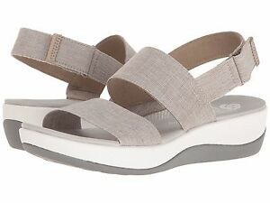 Women-039-s-Shoes-Clarks-Arla-Jacory-Casual-Wedge-Sandals-25965-Sand-New