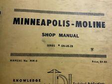 Minneapolis Moline Series Gb Ub Zb Shop Manual