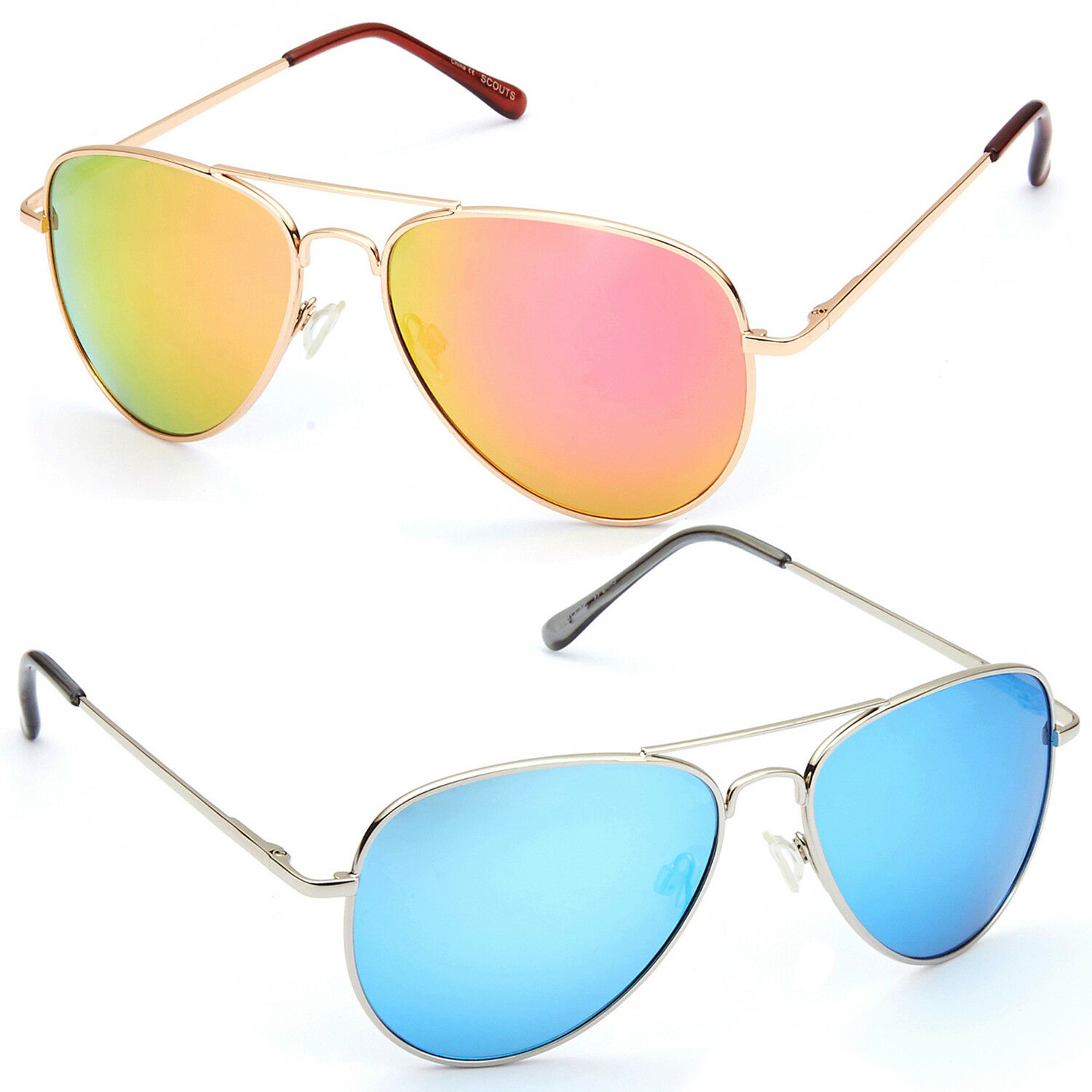 344b8746a27 Polarized Aviator Sunglasses for Women Men Vintage Sports Driving Mirrored