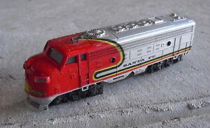 Vintage Ho Scale Playart Santa Fe Diesel Locomotive Ebay