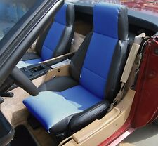 CHEVY CORVETTE C4 TYPE3 1984-1993 BLACK/BLUE S.LEATHER CUSTOM FIT SEAT COVER