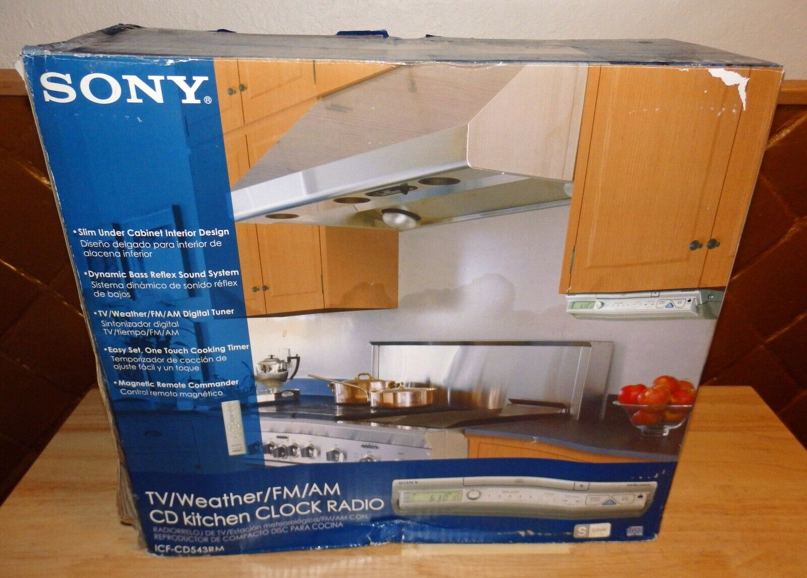 Sony Icf Cd543rm Kitchen Clock Radio Cd Player Am Fm Weather Radio Mega Bass For Sale Online Ebay