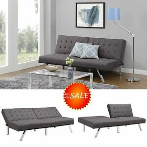 Chaise Lounger Futon Sofa Convertible Bed Couch Queen Size Living Room Furnit