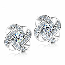 UK SELLER  925 Sterling Silver Swirl Stud Earrings Jewellery Charm Ladies Gift
