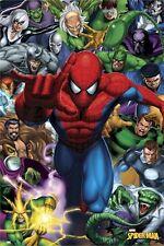 SPIDER-MAN ~ ENEMIES 24x36 ART POSTER Green Goblin Rhino Sand Electro Spiderman
