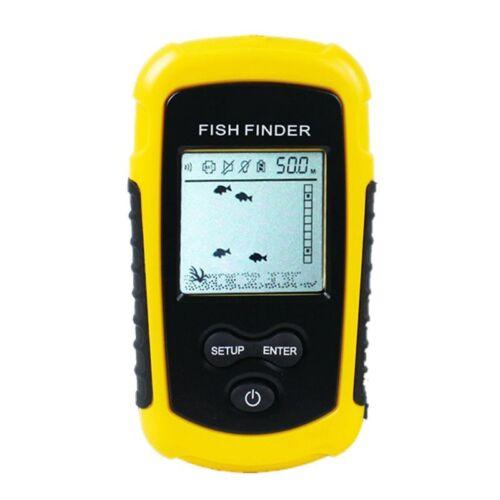 FF1108-1 Portable Sonar Alarm Fish Finder Echo Sounder 0.7-100M Transducer T6N2