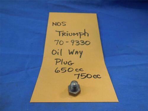 Triumph 70-9330 Oil Way Plug 650cc 750cc NOS  NP798