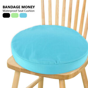 Details about Round Chair Cushion Seat Pads Kitchen Dining REMOVABLE  Indoor/Outdoor Garden