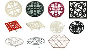 TRIVET-Various-Shape-Sizes-amp-Colour-Round-Square-Cast-Iron-Coated-Chrome