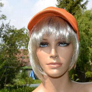 Casquette orange femme bonnet gavroche chapeau taille unique été ZAZA2CATS