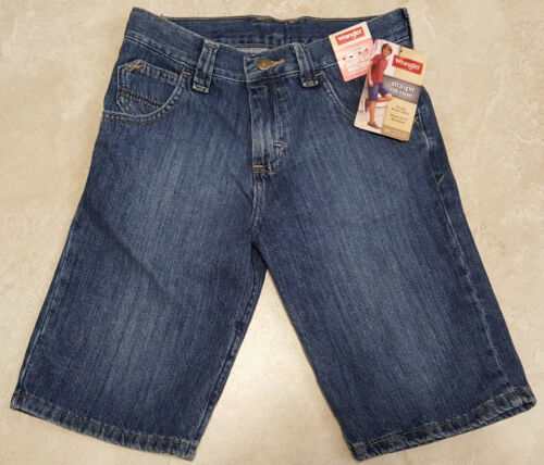 Boys Adjustable Waist Wrangler Straight 5 Pocket Jean Shorts