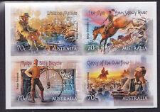 "2014 Bush Ballads AB ""Banjo""Paterson - Block of 4 Booklet Stamps"