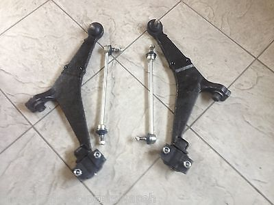PEUGEOT 106 SAXO 96-04 TWO FRONT LOWER WISHBONE ARMS 2 TRACK ROD ENDS /& 2 LINKS