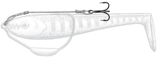 """3 Pack OWNER 5290-208 STINGER Harness Rigs Size 4 Treble Hooks 80lb 4 1//2/"""" Line"""