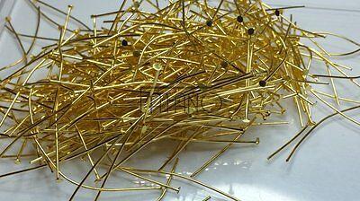 250 gold Kettelstifte  51 mm x 0,8 mm Nietstifte Prismenstifte Schmuck H1010