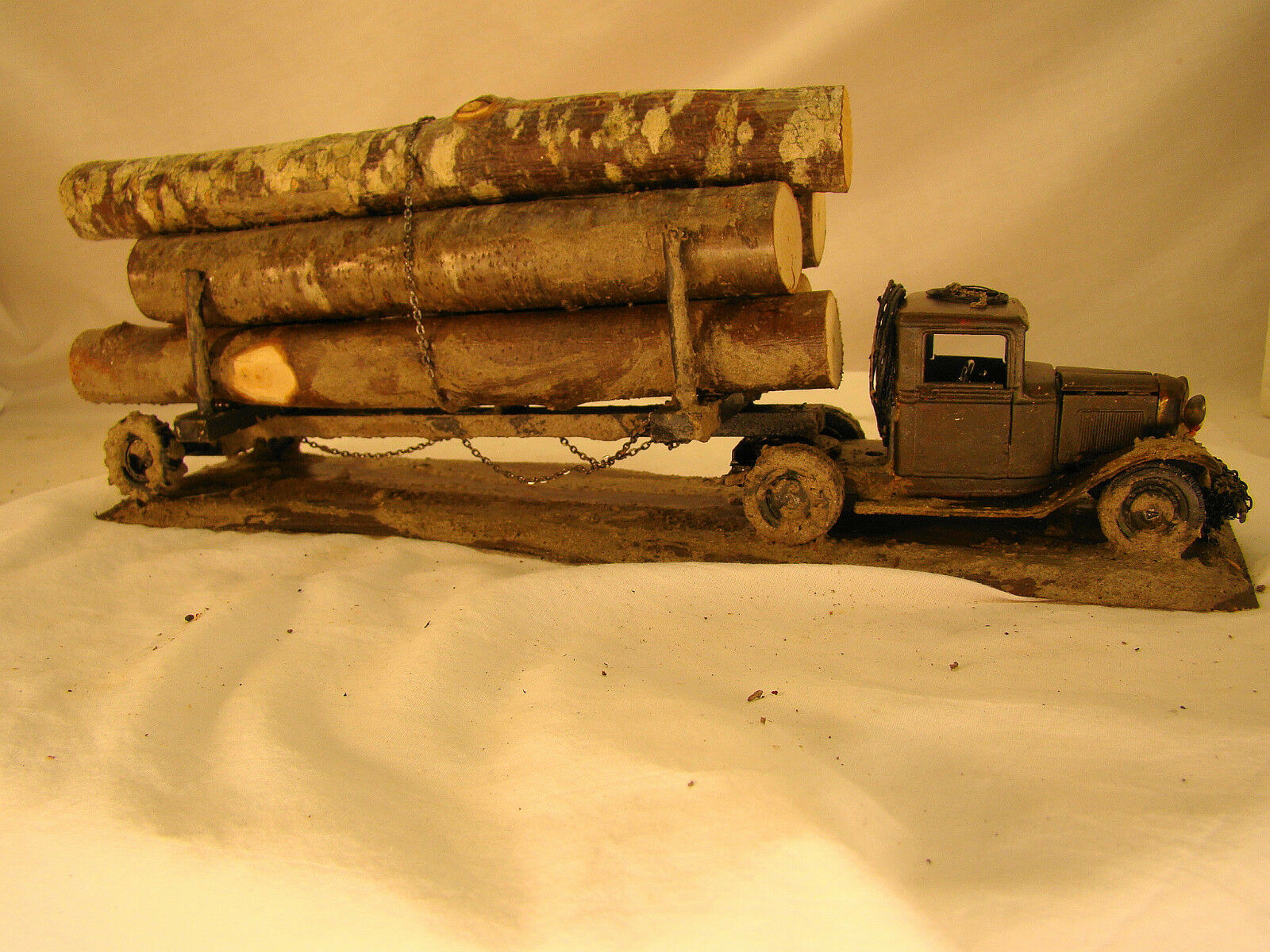 O or On30 scale Logging Car - custom weatherosso from historic pictures - lot 18