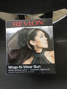 REVLON-WRAP-N-WEAR-BUN-Synthetic-Hair-Wrap-Hairpiece-Dark-Brown