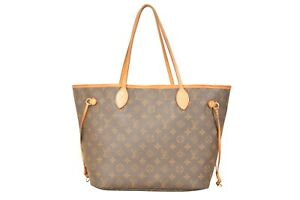 Louis-Vuitton-Monogram-Neverfull-MM-Tote-Shoulder-Bag-M40156-YG00558