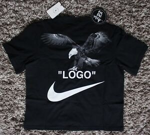41a127a4 Nike Off White Logo Football Mon Amour T-Shirt Tee Black Small ...