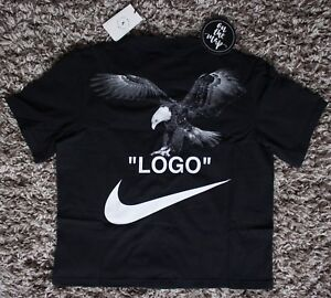 Nike Off White Logo Football Mon Amour T-Shirt Tee Black Small ... 0f705d624